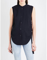 Helmut Lang Ruched-sides twill shirt