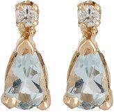 Loren Stewart Women's Diamond & Aquamarine Stud Earrings