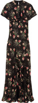 Vilshenko Bella Cape-effect Printed Silk-georgette Maxi Dress - Black