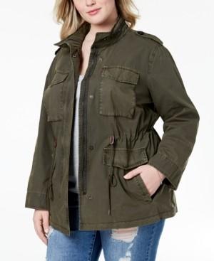 Levi's Trendy Plus Size Cotton Utility Jacket