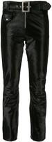 Yang Li velvet cropped trousers