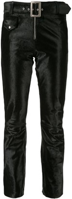 Yang Li Velvet Cropped Trousers