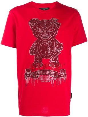 Philipp Plein Teddy Bear Platinum T-shirt
