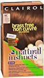 Clairol Natural Instincts Brass Free Brunettes Non-Permanent Color - 6C Light Brown 1 Each (Pack of 11)