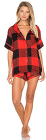 Plush Ultra Soft Buffalo Plaid PJ Set in Red. - size M (also in S,XS)