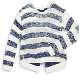 Splendid Girls 7-16 Split-Back Striped Sweater