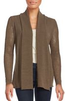 Lafayette 148 New York Solid Open Front Cardigan