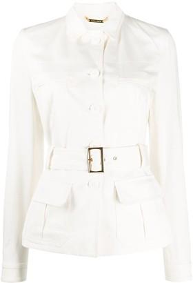 Alberta Ferretti Belted Single-Breasted Jacket