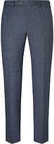 John Lewis Super 100s Wool Birdseye Tailored Suit Trousers, Cornflower