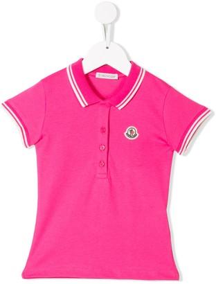 Moncler Enfant Striped Trim Polo Shirt