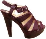 Christian Louboutin Calfskin sandals with a ponyskin effect