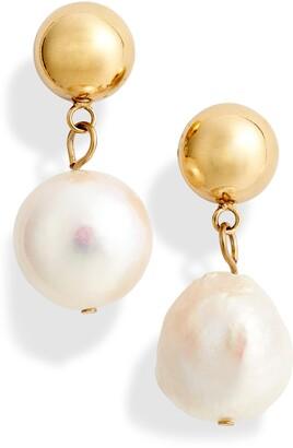 Knotty Imitation Pearl Drop Earrings