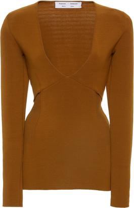 Proenza Schouler White Label Bandage Knit V-Neck Pullover