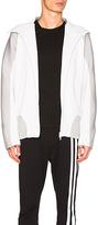 Yohji Yamamoto Core Track Zip Hoodie in White