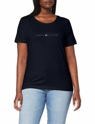 Tommy Hilfiger Women's Tiara Regular Round-NK TEE SS T-Shirt