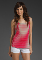 Highlighter Stripe Low Scoop Back Tank