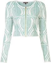 Sophie Theallet cropped zip jacket - women - Silk/Polyamide/Polyester - M