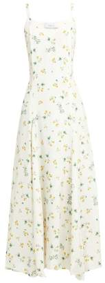 Racil Ava Silk Floral Slip Dress - Womens - White Multi