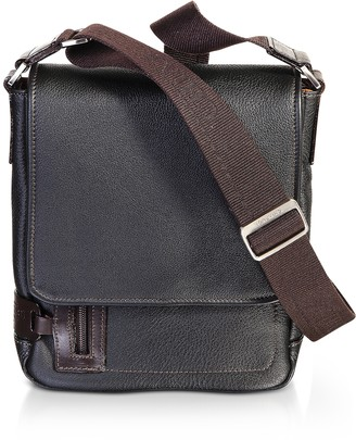 Chiarugi Genuine Leather Men's Flap Crossbody Bag