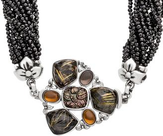 Stephen Dweck Multi-Strand Crystal, Quartz & Garnet Necklace
