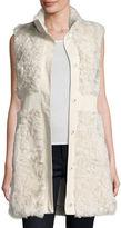 Pologeorgis Lamb Leather-Trim Vest