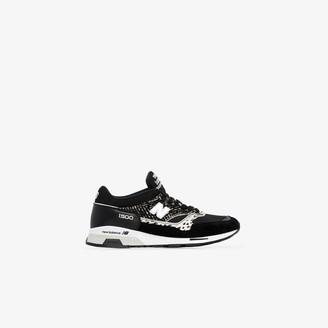 New Balance black M1500 animal print sneakers