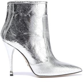 Paul Andrew Citra 105 Metallic Cracked-leather Ankle Boots