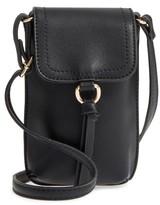 BP Tassel Faux Leather Phone Crossbody Bag - Black