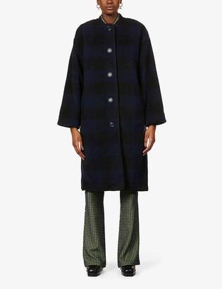 Stine Goya Beth check-print recycled-polyester coat