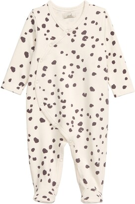 Peek Aren't You Curious Marley Animal Spot Footie Bodysuit