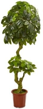 Nearly Natural 6' Scheffler Indoor/Outdoor Artificial Tree