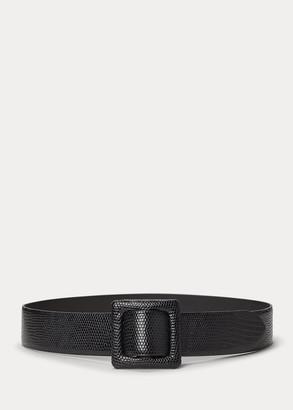 Ralph Lauren Lizard-Skin Belt