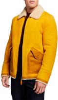 Scotch & Soda Men's Short Suede & Shearling Jacket