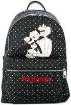 Dolce & Gabbana Volcano family patch backpack - men - Polyester/Recycled Plastic - One Size