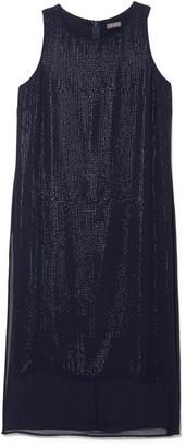 Vince Camuto Chiffon-overlay Sequin Dress