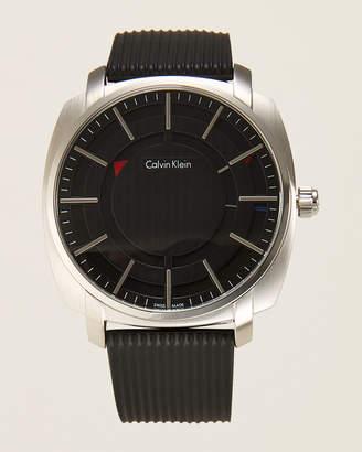 Calvin Klein K5M3X1D1 Silver-Tone & Black Highline Watch