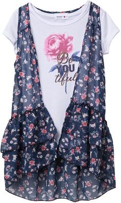 Beautees Be You Tiful T-Shirt & Chiffon Vest Set (Big Girls)