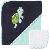 Baby Vision Luvable Friends® Turtle Hooded Towel and Washcloth Set in Blue