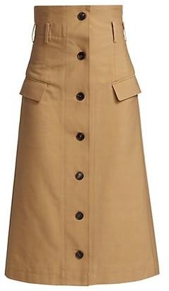 Victoria Beckham High Waisted Flare Skirt