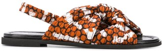 Christian Wijnants Avia animal-print sandals