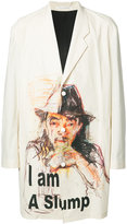 Yohji Yamamoto three button printed jacket - men - Silk/Cotton - 4