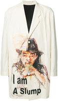 Yohji Yamamoto three button printed jacket