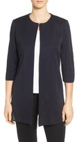 Ming Wang Women's Long Collarless Jacket
