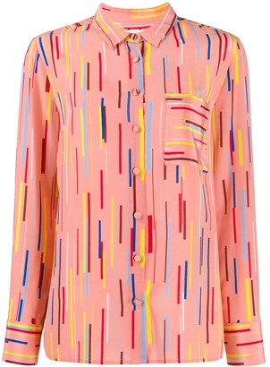 Chinti and Parker Stripe Print Blouse