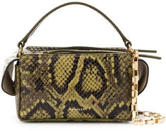 Wandler Yara Box snakeskin-effect tote bag