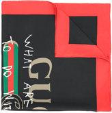 Gucci Coco Capitán logo scarf