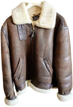 Schott Brown Shearling Leather Jacket for Women