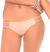 Luli Fama L466622 Crochet Loops Side Full Bottom in Sea Shell