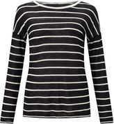 Jigsaw Stripe Drop Sleeve Slim Tee