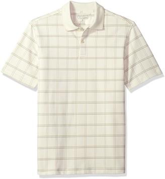 Van Heusen Men's Printed Short Sleeve Windowpane Polo Shirt
